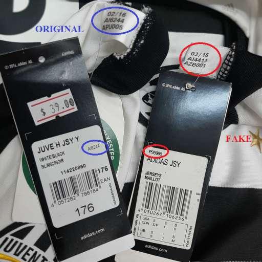 Phân biệt hàng Original và fake đối với áo Adidas