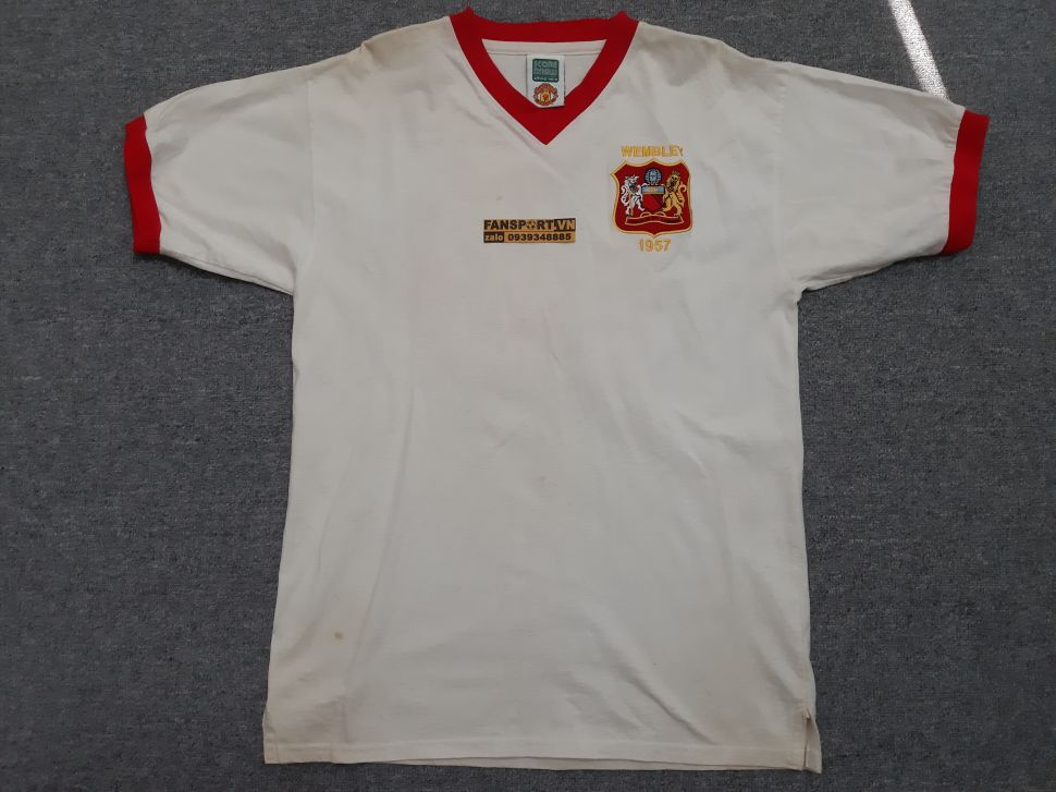 Áo đấu Charlton #10 Manchester United FA Cup Final 1957 away shirt