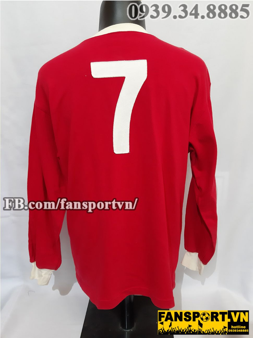 Áo đấu #7 Manchester United FA cup final 1963 home shirt jersey red