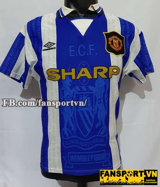 Áo đấu Beckham #10 Manchester United 1994-1997 third shirt jersey blue