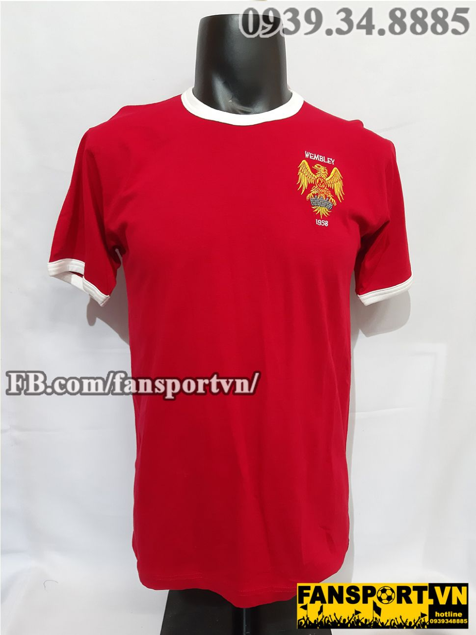 Áo đấu Manchester United FA cup final 1958 home shirt jersey red