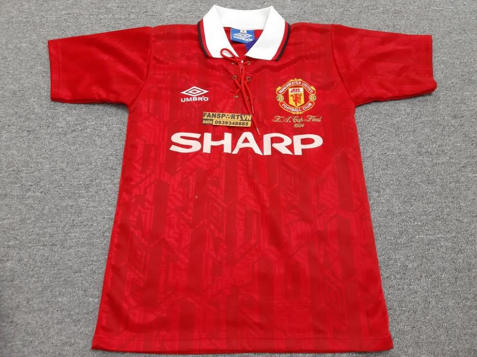 Áo đấu Manchester United FA Cup Final 1994 home shirt jersey red