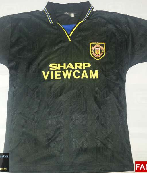 Áo đấu Manchester United 1993-1995 away shirt jersey black
