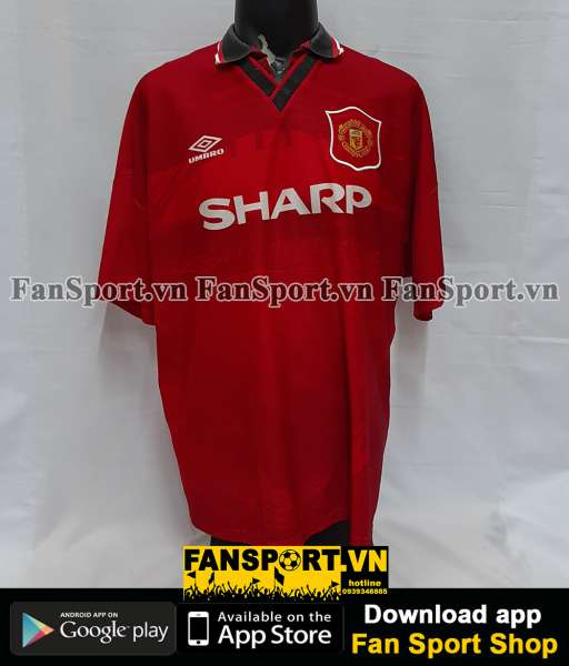 Áo đấu Beckham #8 Manchester United 1994-1995-1996 home shirt red