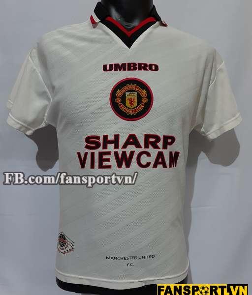 Áo đấu Beckham #10 Manchester United 1996-1997 away shirt jersey white