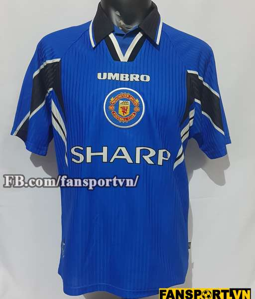 Áo đấu Manchester United 1996-1998 third shirt jersey blue