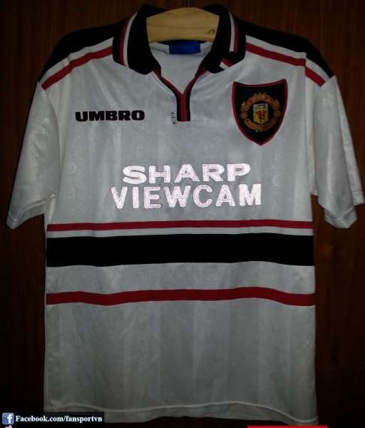 Áo đấu Manchester United 1997-1999 away shirt jersey white