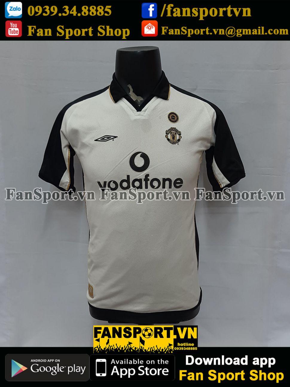 Áo đấu Beckham #7 Manchester United 2001-2002 away third shirt jersey