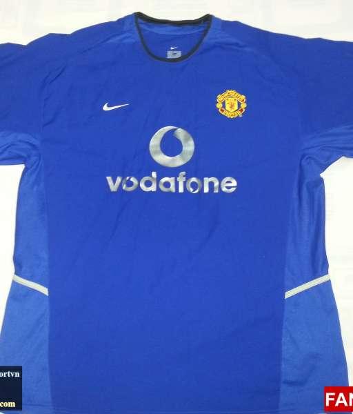Áo đấu Giggs #11 Manchester United 2002-2003 third shirt jersey blue