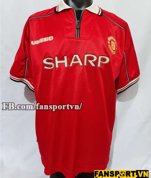 Áo đấu Manchester United 1998-1999-2000 home shirt jersey red