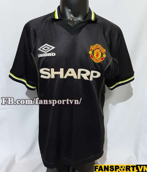 Áo đấu Manchester United 1998-1999 third shirt jersey black