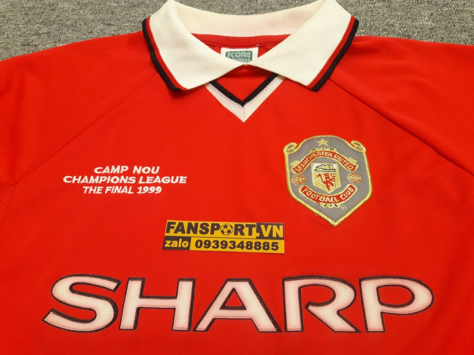 Áo đấu Manchester United Champion League final 1999 home shirt jersey