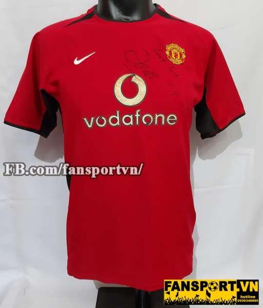 Áo đấu Manchester United 2002-2004 home chữ ký Beckham shirt jersey