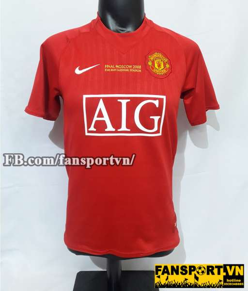 Áo đấu Manchester United Champion League Final 2008 home shirt jersey