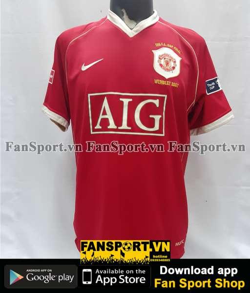 Áo đấu Manchester United FA Cup Final 2007 home shirt jersey red 2006