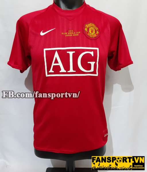 Áo đấu Manchester United FIFA Club World Cup 2008 home shirt jersey
