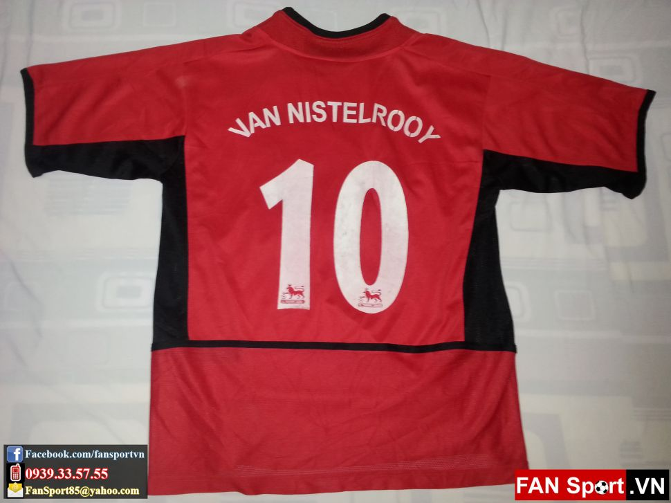 Áo Manchester United 2002-2004 home red shirt jersey