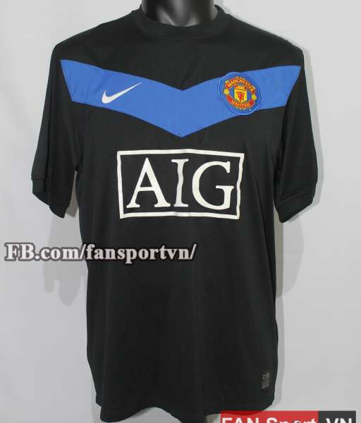 Áo đấu Manchester United 2009-2010 away shirt jersey black