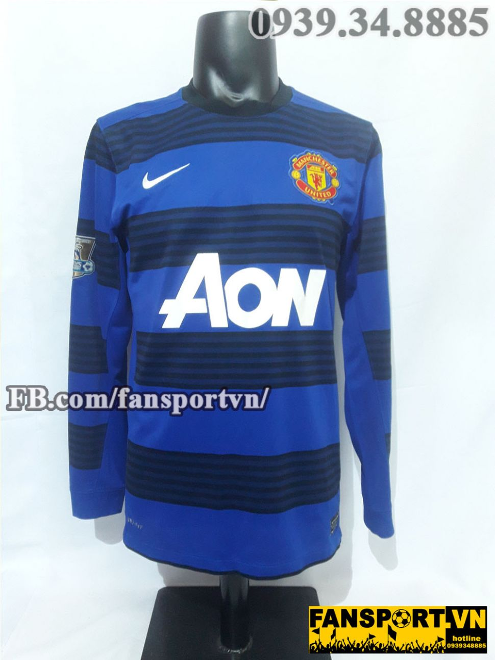 Áo đấu Manchester United 2011-2012 away shirt jersey blue