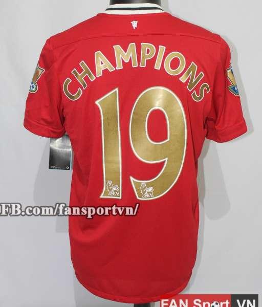 Áo đấu Manchester United 2011-2012 home Champions 19 shirt jersey