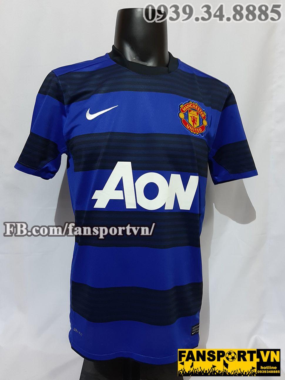 Áo đấu Pogba #42 Manchester United 2011-2012 away shirt jersey blue