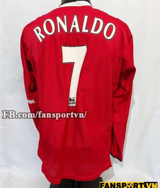 Áo đấu chữ ký Ronaldo #7 Manchester United 2004-2006 home shirt jersey