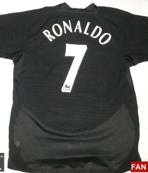 Áo đấu Ronaldo #7 Manchester United 2003-2005 away shirt jersey black