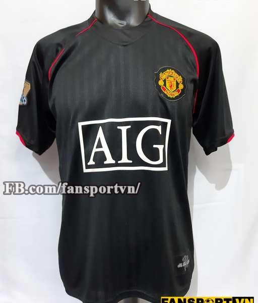 Áo đấu Ronaldo #7 Manchester United 2007-2008 away shirt jersey black