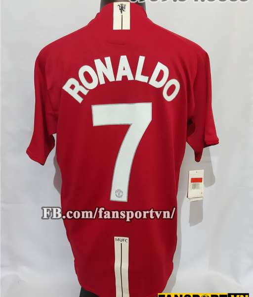 Áo đấu Ronaldo #7 Manchester United Champion League Final 2008 home