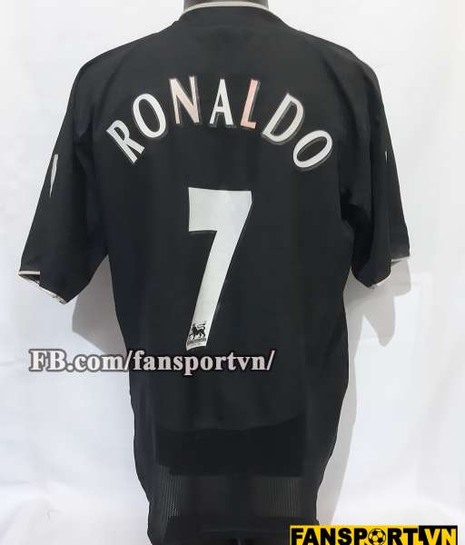 Áo đấu Ronaldo #7 Manchester United FA Cup Final 2005 away shirt black
