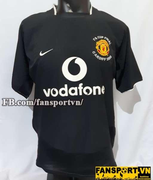 Áo đấu Ronaldo #7 Manchester United FA Cup final 2005 away shirt black