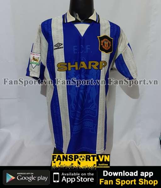 Áo đấu Beckham #24 Manchester United 1994-1997 third shirt jersey blue