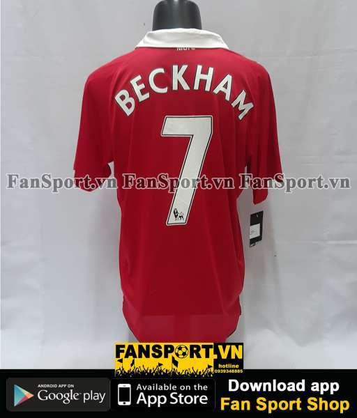 Áo đấu Beckham #7 Manchester United 2010-2011 Testimonial Neville red