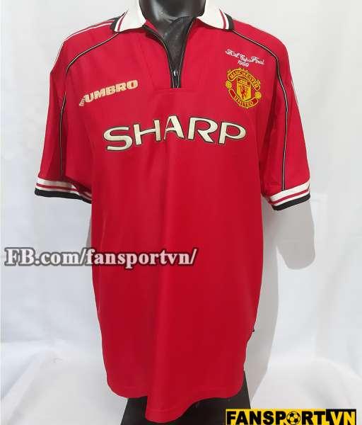 Áo đấu Beckham #7 Manchester United FA Cup Final 1999 home shirt red