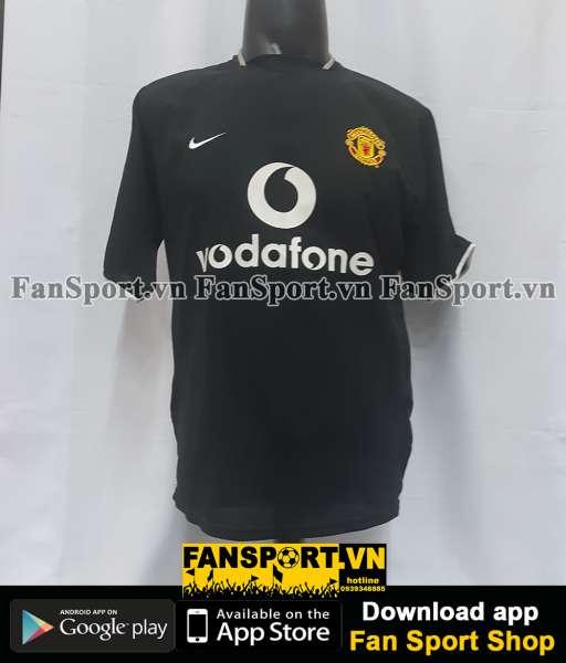 Áo đấu Beckham #7 Manchester United 2003-2005 away shirt jersey black