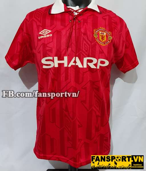 Áo đấu Cantona #7 Manchester United 1992-1994 home shirt jersey red