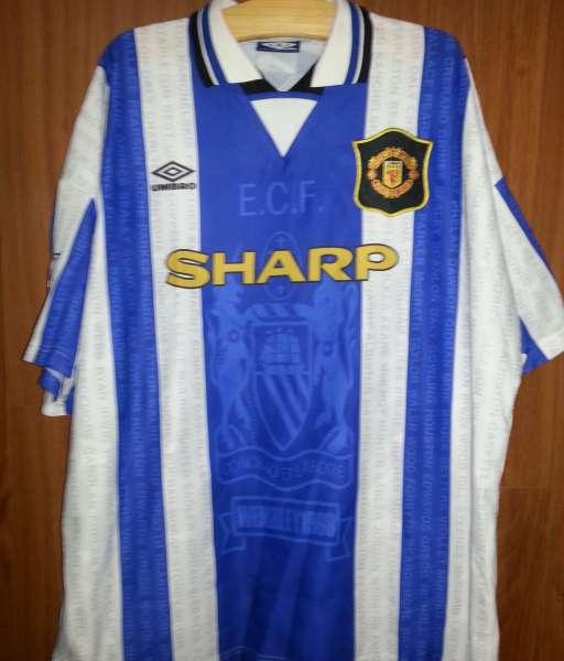 Áo đấu Cantona #7 Manchester United 1994-1997 third shirt jersey blue