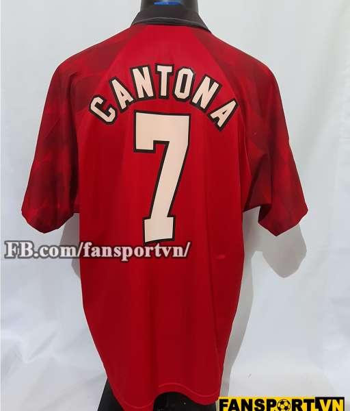 Áo đấu Cantona #7 Manchester United 1996-1998 home shirt jersey red