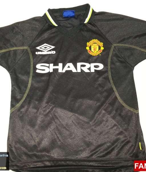 Áo đấu Giggs #11 Manchester United 1998-1999 third shirt jersey black
