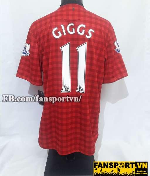 Áo đấu Giggs #11 Manchester United 2012-2013 home shirt jersey red