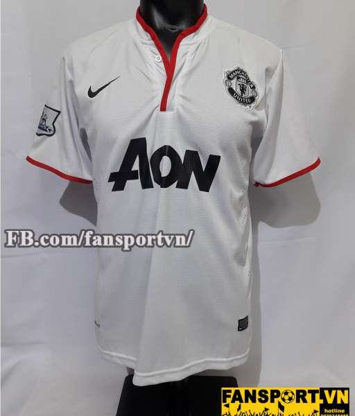 Áo đấu Persie #20 Manchester United 2012-2013 away shirt jersey white