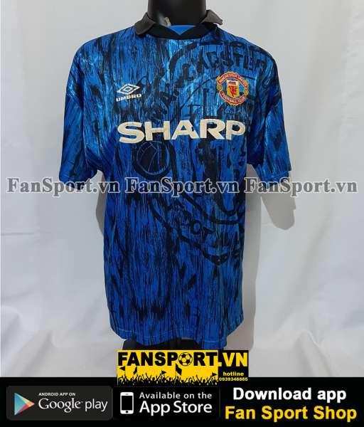 Áo đấu Giggs #11 Manchester United 1992-1993 away shirt jersey blue