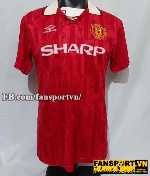 Áo đấu Giggs #11 Manchester United 1992-1994 home shirt jersey red