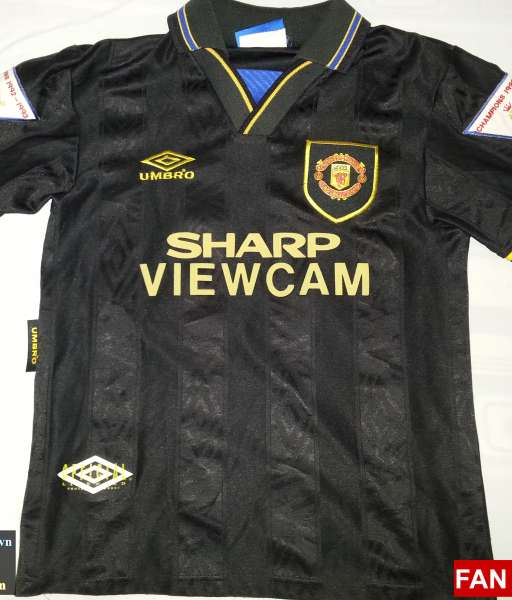 Áo đấu Giggs #11 Manchester United 1993-1995 away shirt jersey black