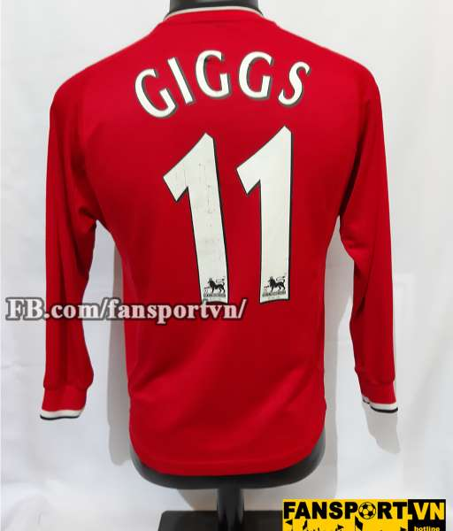 Áo đấu Giggs #11 Manchester United 2000-2002 home shirt jersey red