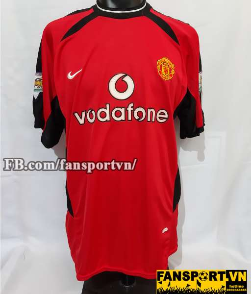Áo đấu Giggs #11 Manchester United 2002-2004 home shirt jersey red