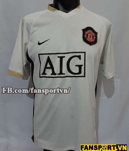 Áo đấu Giggs #11 Manchester United 2006-2007 away shirt jersey white