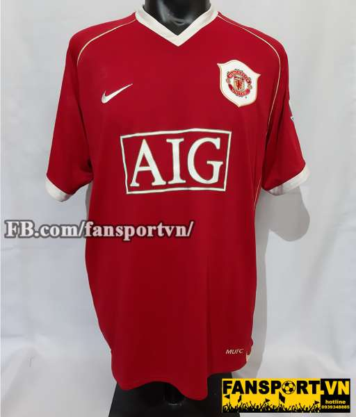 Áo đấu Giggs #11 Manchester United 2006-2007 home shirt jersey red