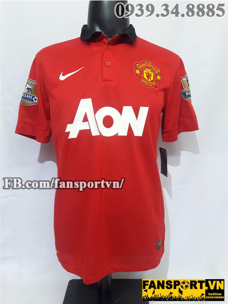 Áo đấu Giggs #11 Manchester United 2013-2014 home shirt jersey red