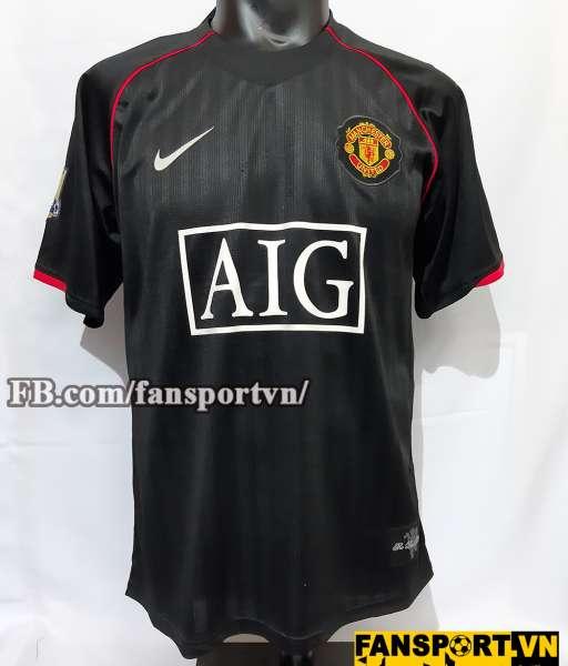 Áo đấu Rooney #10 Manchester United 2007-2008 away shirt jersey black